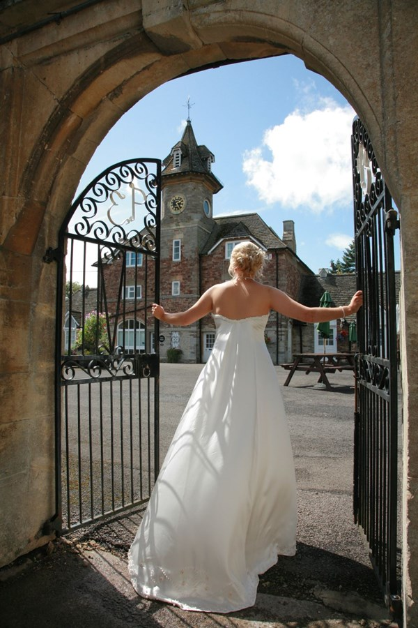 Bride outside the Clock Tower